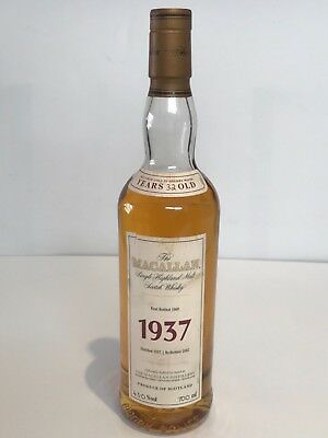 Macallan Fine & Rare 1937 32 Years Old Display Bottle Not For Consumption