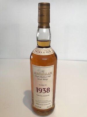 Macallan Fine & Rare 1938 35 Years Old Display Bottle Not For Consumption