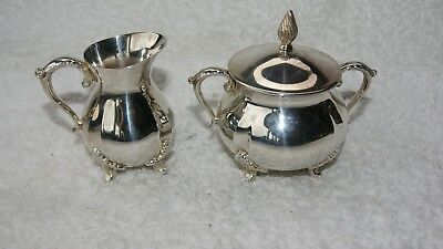 Pretty vintage Silver Plated? Milk And Sugar Bowls. hallmarked viners