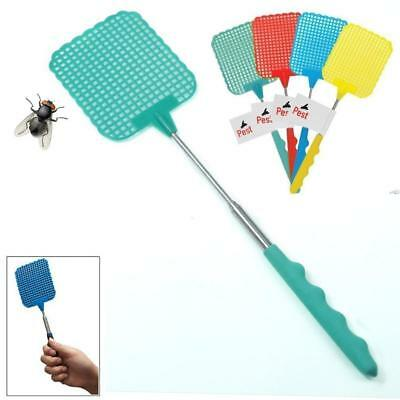 73cm Plastic Telescopic Extendable Fly Swatter Prevent Pest Mosquito Tool  QT