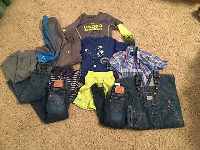 12 Piece Lot TODDLER 2T BOYS CLOTHES Outfits! Levi's Polo Under Armour!!