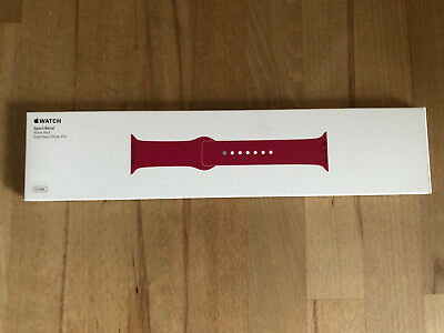 Original APPLE WATCH Sport Armband 42mm Rose Red / Rosenrot - SELTEN - OVP