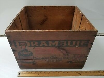 Vtg. Advertising Drambuie Liqueur Co Ltd Edinburgh Scotland Wooden Crate! NICE!!