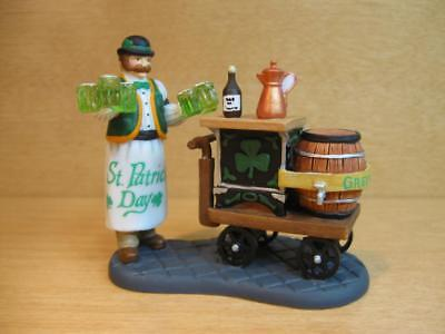 """Dept. 56 Christmas In The City 58988 """"serving Irish Ale"""" Green Beer St. Patricks"""