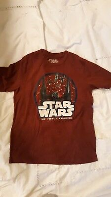 Pre-owned Star Wars Shirt Size Boys Large L Force Awakens