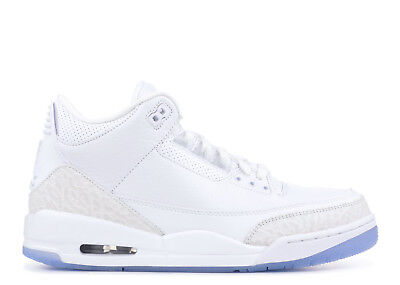 Air Jordan Retro 3 III Pure White 136064-111 Money