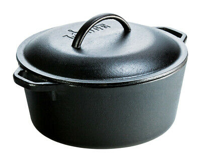 Lodge Logic Dutch Oven 5 Qt. Cast Iron Pre-Seasoned 10-1/4""