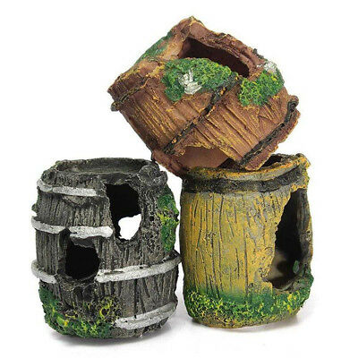Barrel Aquarium Fish Tank Resin Ornament Cave Landscaping Furnishing Decorations