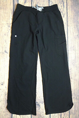 FIGS Womens Small Technical Collection Ica Cargo Scrub Pants Black NEW