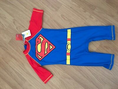 Boys Superman all in one UV sun safe swim suit age 4-5 years