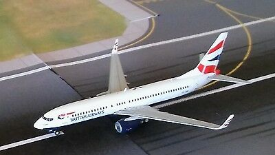 British Airways Boeing 737 Model Aircraft 1/400 Scale Gemini Jets