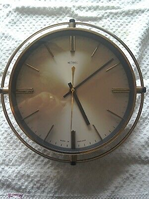 Vintage Brass Metamec Wall Clock -  Made in England. With Kienzle  Movement.