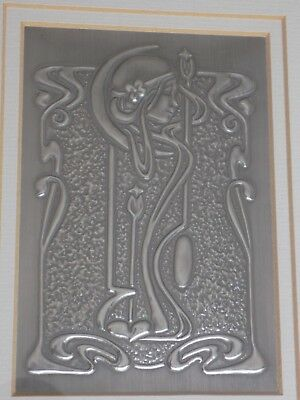Glasgow school of Art Crescent Moon Pewter Panel Linda Kerr Glasgow Style