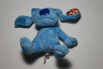 New Ty Beanie Babies Blue From Blue's Clues - Mint With Mint Tags