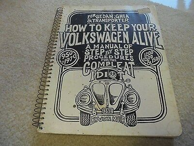 Vintage 1971 How to Keep Your Volkswagen Alive by John Muir