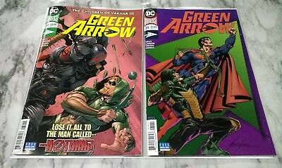 Green Arrow #39 A & B Set NM/NM+ 1ST Print DC Comics Rebirth