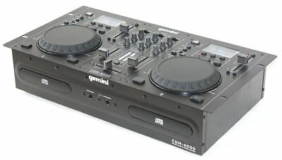 GEMINI CDM-4000 DJ Media Player USB_CD_MP3_2 Decks_Mixer_Anti Schock_LCD_XLR_NEU