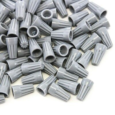 200 pcs Grey Screw On Wire Electrical Connectors Twist-On Easy Screw Pack