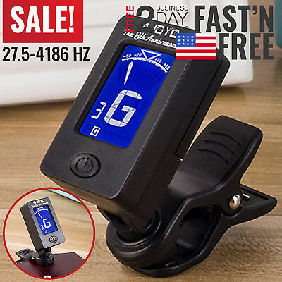 Guitar Tuner Metronome Banjo Acoustic Bass Chord Finder Clip On Ukulele Violin
