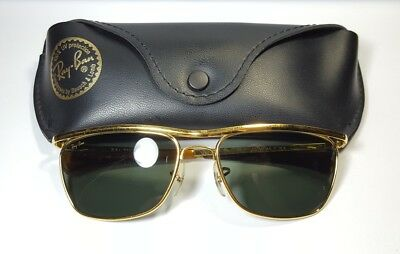 Vintage B&L Ray Ban Bausch & Lomb Olympian II Deluxe DLX Sunglasses Gold/Tortuga
