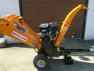 wood chipper GS120 professional electric start Briggs and Stratton 420cc