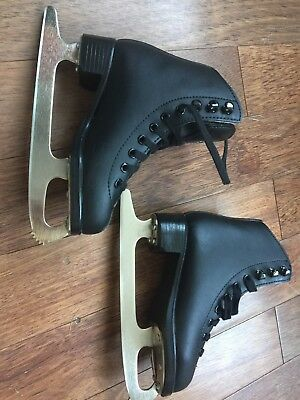 Glacier Jackson Black Ice Skating Boots kids Size 10 Immaculate Cond worn once