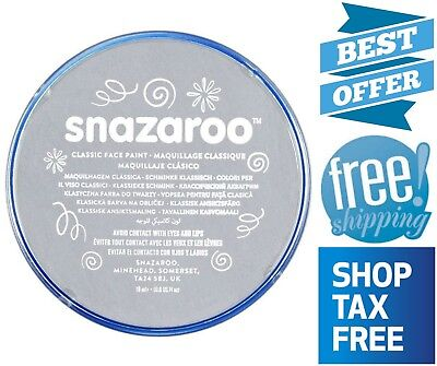 Snazaroo Face Paint Light Grey Washable for Sensitive Skin Fragrance Free 0.6 oz