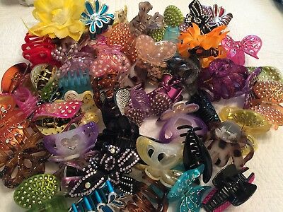 Lot 60 Assorted Hair Accessories Hair Clips New Retail Wholesale