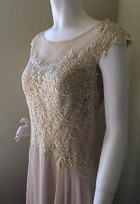 JJ's House A-Line Scoop Neck, Long Chiffon Lace Mother of the Bride Dress 12