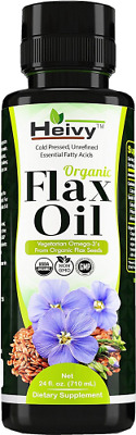 Organic Flax Oil (24 FL OZ), Flaxseed Oil Liquid, Cold Pressed Flaxseed Oil