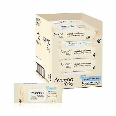 Aveeno Baby Wipes Daily Care 12 packs 864 wipes total with Oat and Aloe extracts