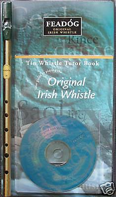 Genuine Original Irish Tin Whistle, Book & CD by Feadog, F20