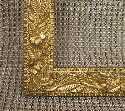 c1880 Excellent VICTORIAN AESTHETIC GILDED Compo FLORAL ARTS CRAFTS Antique Frme
