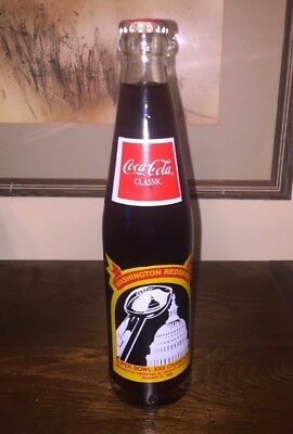 Coke Superbowl XXII  1988 Redskins Bottle Coco Cola