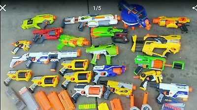 HUGE LOT OF Nerf Guns Ammo Mags clips magazine