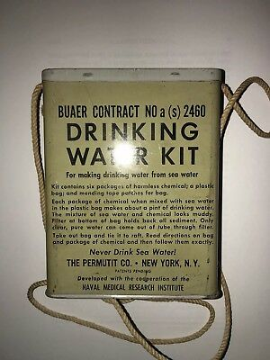 Vintage Water Tin - Collectable