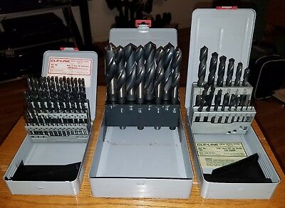 Cle-Line High Speed Steel Drill Bits LOT x 83pcs