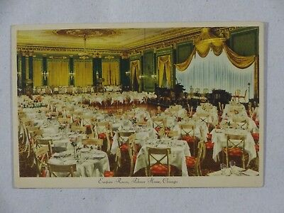 Vintage Postcard Empire Room Palmer House Hotel Chicago IL USA Unposted