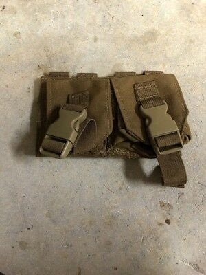 NEW London Bridge LBT-9008B Double Frag Grenade MOLLE Pouch - Coyote Tan