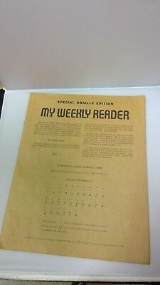 Special Braille Edition, vintage 1969 My Weekly Reader