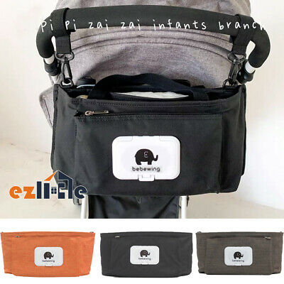 Stroller Pram Pushchair Baby Organiser Mummy Bag Storage Buggy Cup Bottle Holder