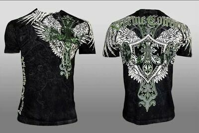 XTREME COUTURE by AFFLICTION Men T-Shirt LONG VIEW Biker WINGS MMA GYM S-3X $40