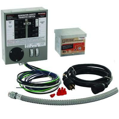 Generac 6408 30-Amp 6-10-Circuit Indoor Manual Transfer Switch Kit