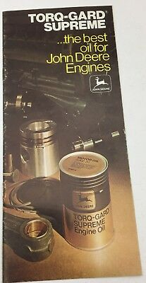 1975 John Deere Brochure: Torq-Gard Supreme The Best Oil for John Deere Engines