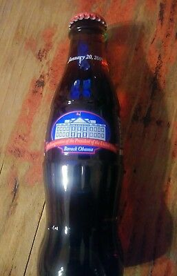 2009 Barack Obama Presidential Inauguration 8 Ounce Glass Coca Cola Bottle