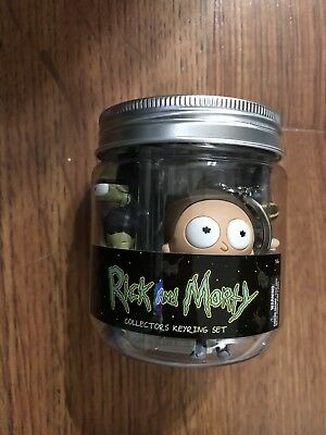 SDCC 2018 Monogram Rick and Morty Pickle Rick themed Gift Jar Keyring Set