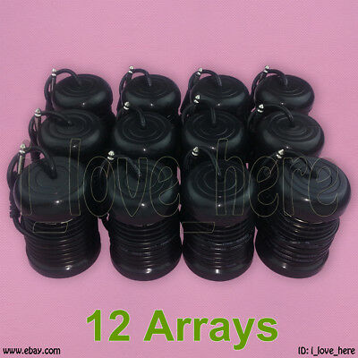 12 Black Round Arrays Replacement for Ionic Detox Foot Bath Spa Cleanse Machine