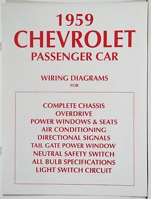 1959 full size chevrolet factory wiring diagram manual