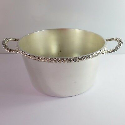 Vintage Stokes Silverplate Food Serving Pot Dish/Bowl, Handles