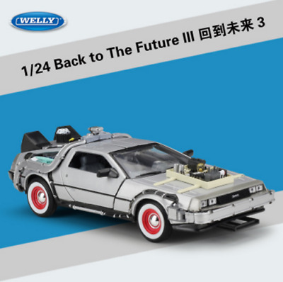 Welly 1:24 Back to the Future 3 Delorean Time Machine Diecast Metal Model Car